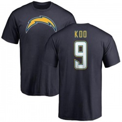 Men's Younghoe Koo Los Angeles Chargers Name & Number T-Shirt - Navy