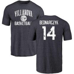 Men's Zach Bednarczyk Villanova Wildcats Distressed Basketball Tri-Blend T-Shirt - Navy