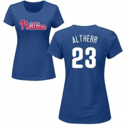 Women's Aaron Altherr Philadelphia Phillies Roster Name & Number T-Shirt - Royal