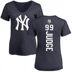 Women's Aaron Judge New York Yankees Backer Slim Fit T-Shirt - Navy