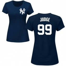 Women's Aaron Judge New York Yankees Roster Name & Number T-Shirt - Navy