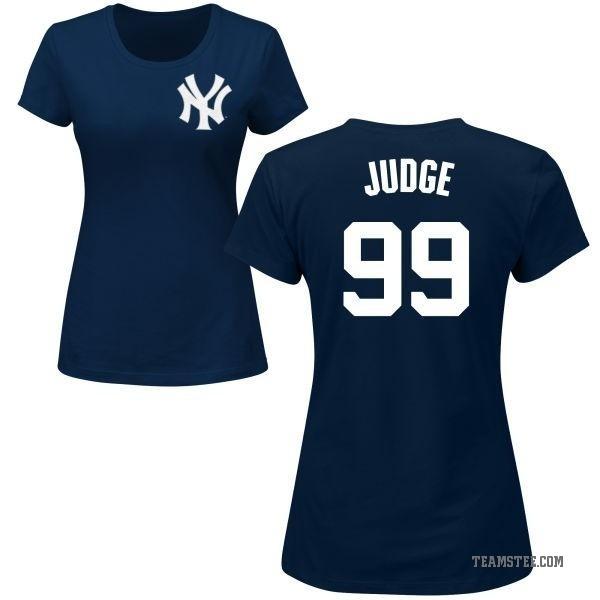 half off 2c120 a8951 Women's Aaron Judge New York Yankees Roster Name & Number T-Shirt - Navy -  Teams Tee
