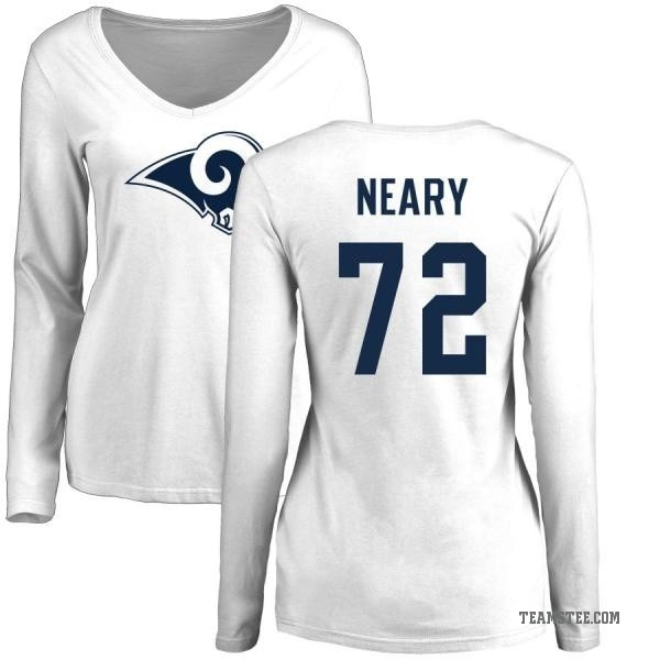 competitive price dc189 a8df0 Women's Aaron Neary Los Angeles Rams Name & Number Logo Slim Fit Long  Sleeve T-Shirt - White - Teams Tee
