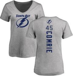 Women's Adam Comrie Tampa Bay Lightning Backer T-Shirt - Ash