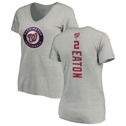Women's Adam Eaton Washington Nationals Backer Slim Fit T-Shirt - Ash