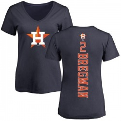 Women's Alex Bregman Houston Astros Backer Slim Fit T-Shirt - Navy
