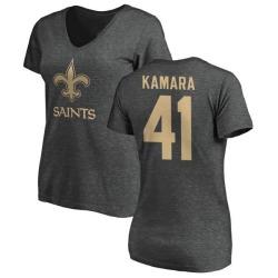 Women's Alvin Kamara New Orleans Saints One Color T-Shirt - Ash