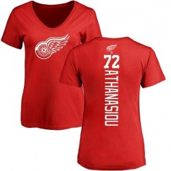 Women's Andreas Athanasiou Detroit Red Wings Backer T-Shirt - Red