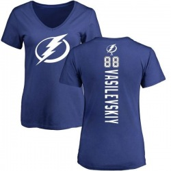 Women's Andrei Vasilevskiy Tampa Bay Lightning Backer T-Shirt - Blue