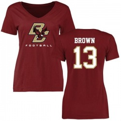 Women's Anthony Brown Boston College Eagles Football T-Shirt - Maroon