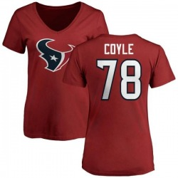 Women's Anthony Coyle Houston Texans Name & Number Logo Slim Fit T-Shirt - Red