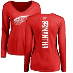 Women's Anthony Mantha Detroit Red Wings Backer Long Sleeve T-Shirt - Red