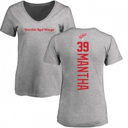 5b605fbb2f2 Men's Anthony Mantha Detroit Red Wings Backer T-Shirt - Ash - Teams Tee