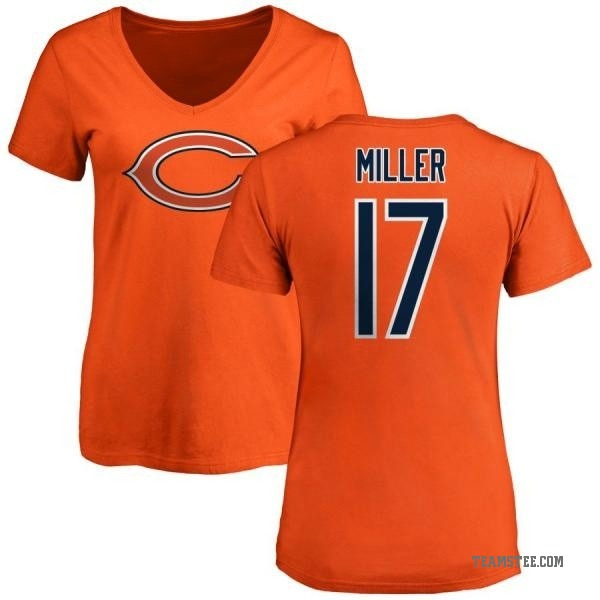 watch f6c6e d9e81 Women's Anthony Miller Chicago Bears Name & Number Logo Slim Fit T-Shirt -  Orange - Teams Tee