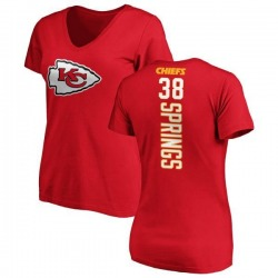 Women's Arrion Springs Kansas City Chiefs Backer Slim Fit T-Shirt - Red