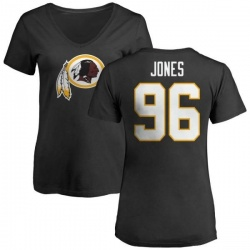 Women's Arthur Jones Washington Redskins Name & Number Logo Slim Fit T-Shirt - Black