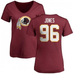 Women's Arthur Jones Washington Redskins Name & Number Logo Slim Fit T-Shirt - Maroon