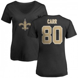 Women's Austin Carr New Orleans Saints Name & Number Logo Slim Fit T-Shirt - Black