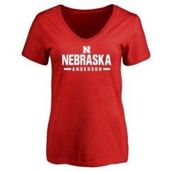 Women's Avery Anderson Nebraska Cornhuskers Sport V-Neck T-Shirt - Scarlet