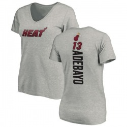 Women's Bam Adebayo Miami Heat Ash Backer T-Shirt