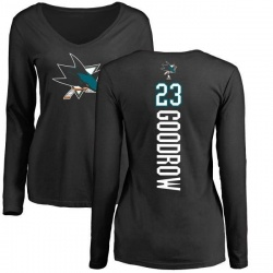 Women's Barclay Goodrow San Jose Sharks Backer Long Sleeve T-Shirt - Black