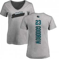 Women's Barclay Goodrow San Jose Sharks Backer T-Shirt - Ash