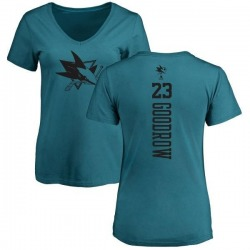 Women's Barclay Goodrow San Jose Sharks One Color Backer T-Shirt - Teal