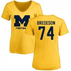 Women's Ben Bredeson Michigan Wolverines One Color T-Shirt - Yellow
