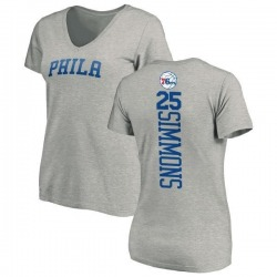 Women's Ben Simmons Philadelphia 76ers Ash Backer T-Shirt