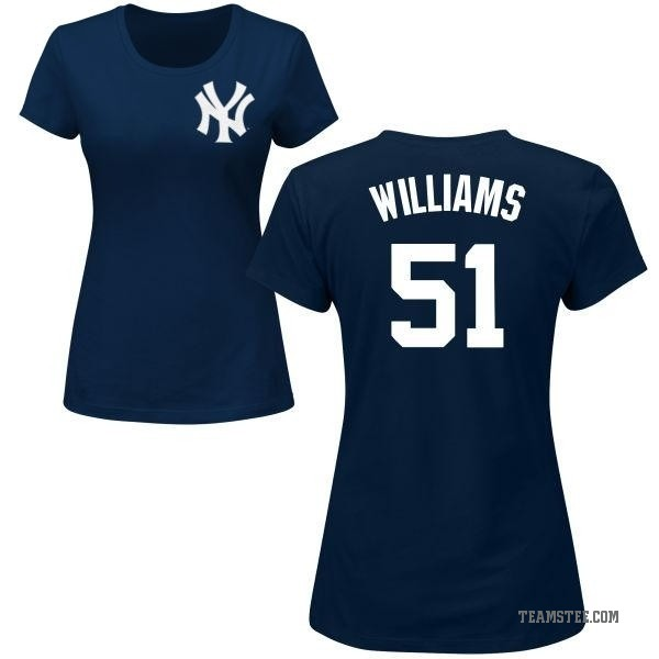 newest f541c da7ef Women's Bernie Williams New York Yankees Roster Name & Number T-Shirt -  Navy - Teams Tee
