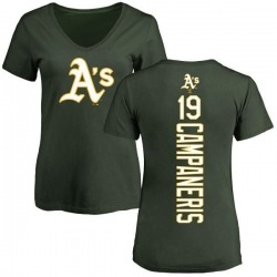 Women's Bert Campaneris Oakland Athletics Backer Slim Fit T-Shirt - Green