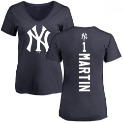 Women's Billy Martin New York Yankees Backer Slim Fit T-Shirt - Navy
