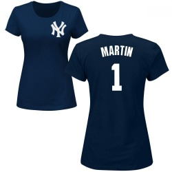 Women's Billy Martin New York Yankees Roster Name & Number T-Shirt - Navy