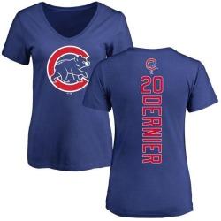 Women's Bob Dernier Chicago Cubs Backer Slim Fit T-Shirt - Royal