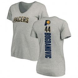 Women's Bojan Bogdanovic Indiana Pacers Ash Backer T-Shirt
