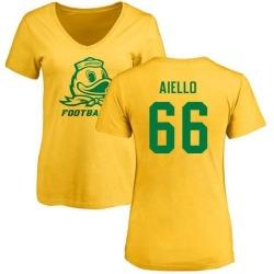 Women's Brady Aiello Oregon Ducks One Color T-Shirt - Yellow