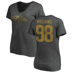 Women's Brandon Williams Baltimore Ravens One Color T-Shirt - Ash