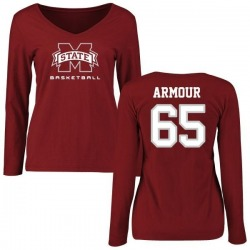 Women's Brett Armour Mississippi State Bulldogs Basketball Slim Fit Long Sleeve T-Shirt - Maroon
