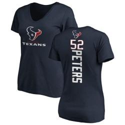 Women's Brian Peters Houston Texans Backer Slim Fit T-Shirt - Navy