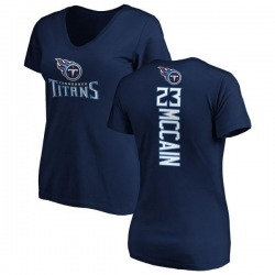 Women's Brice McCain Tennessee Titans Backer Slim Fit T-Shirt - Navy