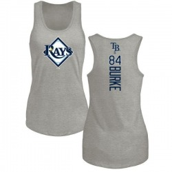 Women's Brock Burke Tampa Bay Rays Backer Tri-Blend Tank Top - Ash