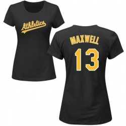 Women's Bruce Maxwell Oakland Athletics Roster Name & Number T-Shirt - Black