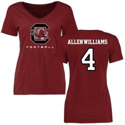 Women's Bryson Allen-Williams South Carolina Gamecocks Football T-Shirt - Maroon