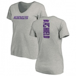 Women's Buddy Hield Sacramento Kings Ash Backer T-Shirt