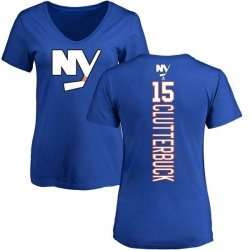 Women's Cal Clutterbuck New York Islanders Backer T-Shirt - Royal