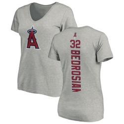 Women's Cam Bedrosian Los Angeles Angels Backer Slim Fit T-Shirt - Ash
