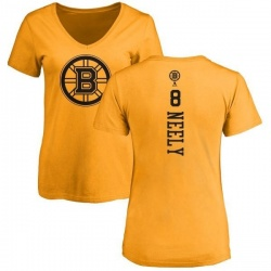 Women's Cam Neely Boston Bruins One Color Backer T-Shirt - Gold