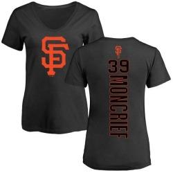 Women's Carlos Moncrief San Francisco Giants Backer Slim Fit T-Shirt - Black