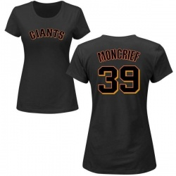 Women's Carlos Moncrief San Francisco Giants Roster Name & Number T-Shirt - Black