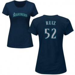 Women's Carlos Ruiz Seattle Mariners Roster Name & Number T-Shirt - Navy